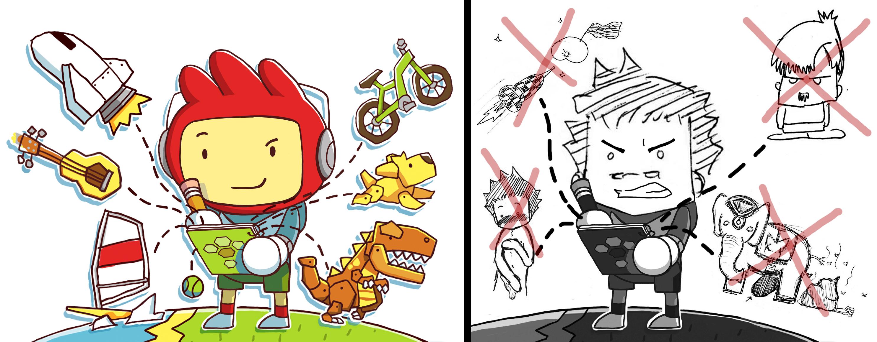 Interdit la vulgarité, l'obscénité et les personnages célèbres? Scribblenauts Unlimited n'est pas un jeu pour K.W.